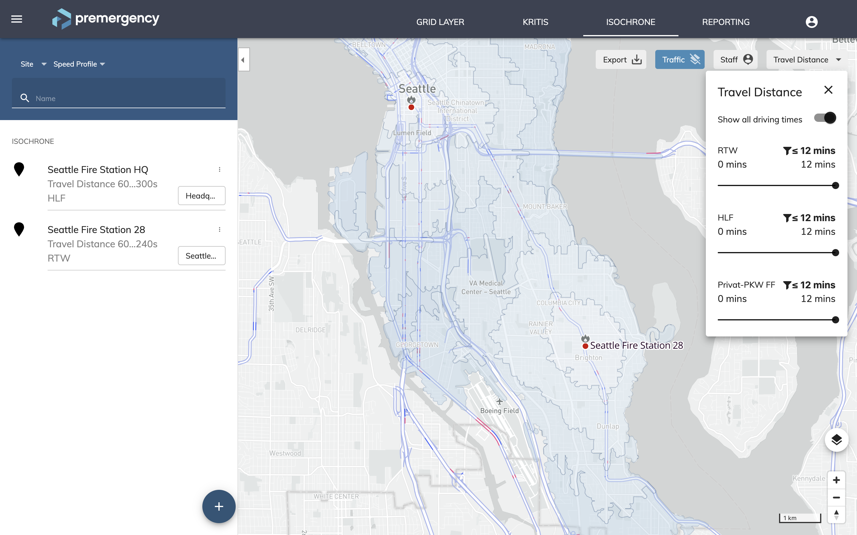 Analyze area coverage